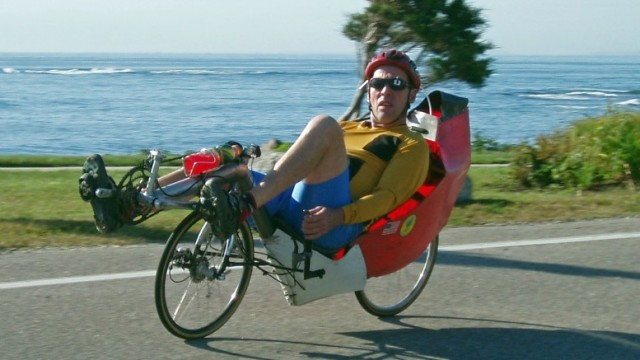 Road rocket! If you find the seat of an upright bike too uncomfortable, you can sit down and pedal a recumbent.