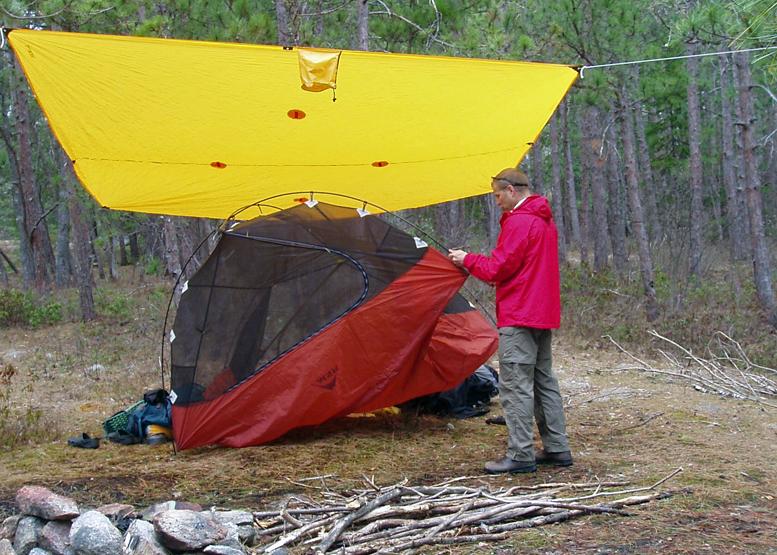 Here's how to keep your gear dry while backpacking in the rain