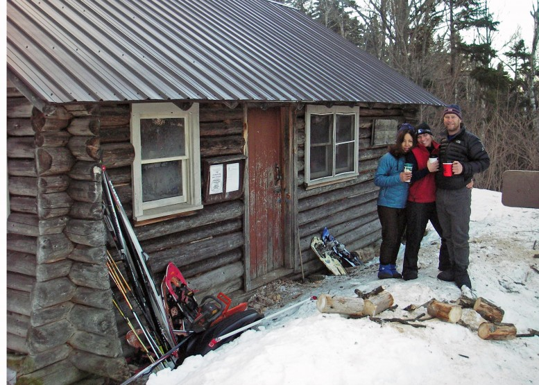 On January 3, 2009, my sweetheart Marilyn, our friends Susan,  David, and I, set out for two nights at the Black Mountain Cabin in Jackson, NH.