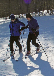Build The Skills! Day one of the two day Winter Workshop was spent practicing the Telemark ski technique we'd use when skiing down Cardigan Mountain (EasternSlopes.com)