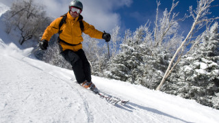 Now, seriously...would you rather be turning pages, or feeling your edge at Okemo? (Courtesy Okemo Mountain Resort)