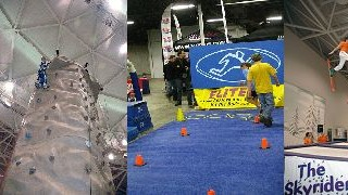 Some of last year's fun at the Boston Globe Ski & Snowboard Expo! (Courtesy BEWI)
