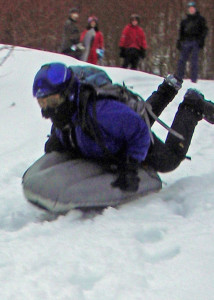 Airboard Sled in action