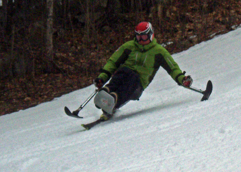 They were subtly scrubbing speed, so an age-impaired companion  who thought he liked to ski fast could keep up.