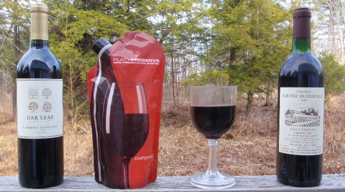 Thanks to GSI's folding wineglass and the PlatyPreserve wine bladders, civilized sipping has come to backpacking!