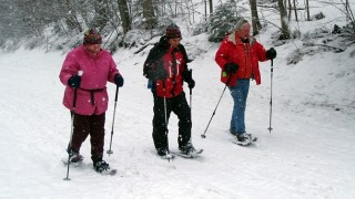 Intrepid explorers enjoying a snowy day at Smuggs (Tim Jones photo)