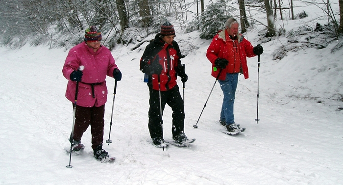 A late winter snowshoe expedition at Smugglers Notch keeps our Active Seniors active!