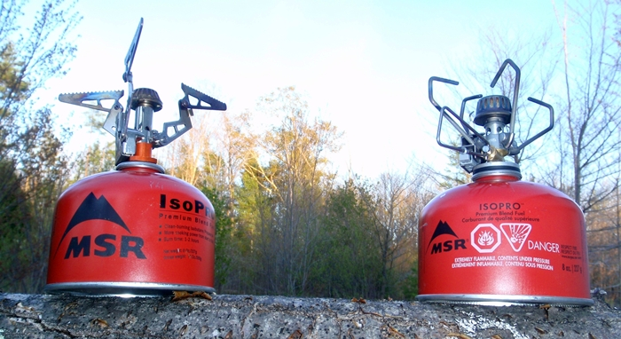 The Brunton Raptor and Snow Peak Giga GS-100A show how well micro backpacking stoves can perform.