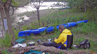 A kayak camp on a river island is an experience worth seeking out, (Tim Jones photo)