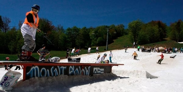 The LAST skiing & boarding of the year is Memorial Day Weekend at Mount Snow & Stratton Mountain; don't miss it!!!