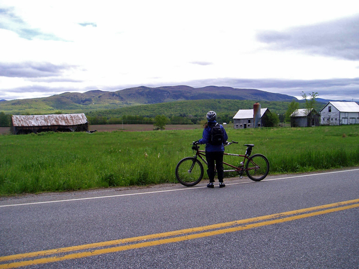The southern Champlain Valley of Vermont is bike-tour central--even in the rain.