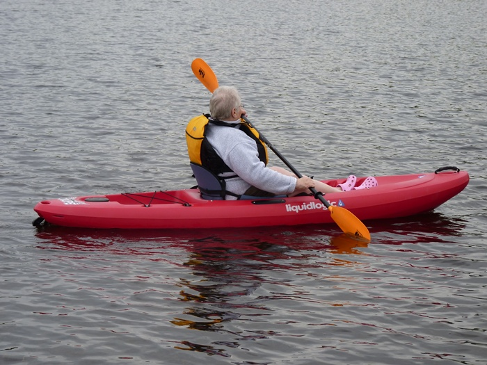 Our intrepid Active Seniors find that sit-on-top kayaks open a whole new world for them!