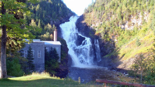 Taller than Niagra Falls and nestled in the quaint old village of Val Jalbert, this waterfall is both a  majestic and calming presence. (Tim Jones photo)