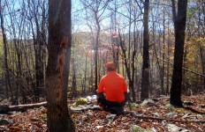 With hunter orange clothing, you can feel safe enjoying the beautiful fall weather and views (Tim Jones photo)