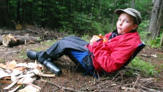 Expanding our testing corps, 13 year old Dan steals Susan's gear for a wet backpacking trip (David Shedd photo)