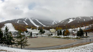 Killington on October 16 . . .were there any skiers or riders having fun on all that snow? (Killington photo)