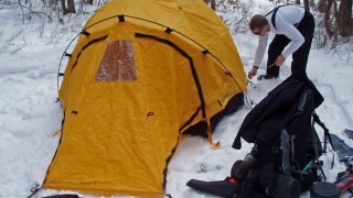 """Cold"" camping can be easier than warm; learn how to do it comfortably! (Tim Jones photo)"