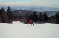 """Despite the fact that Gunstock is """"busier"""" on weekends, on a weekday, you are likely to find yourself alone on a trail. (Tim Jones photo)"""