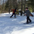 Almost any game can be played on snowshoes, which adds an element of silliness!