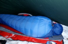 Snuggled down tight is good, but it can't guarantee you a warm night's sleep when the temperature drops below your bag's rating (David Shedd/EasternSlopes.com)
