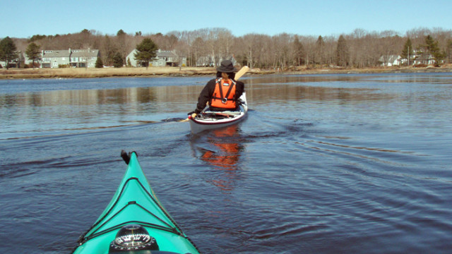 April paddle Kennebunk