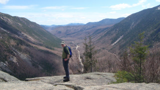 The view into Crawford Notch from Willard Mountain.  Patricia Lyon-Surrey photo