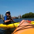 On a hot day in Boston, the best way to beat the heat is to catch a breeze on the Charles River in a kayak.