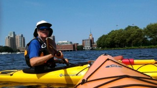 Steve shared his knowledge of the river and city's wonderful. He's been paddling for over 40 years! (Caroline McDonald)