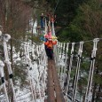 Zip lines and a canopy tour by ArborTrek are a perfect way to break up a ski and snowboard weekend at Vermont's Smugglers' Notch Resort