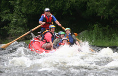 Woohoo! (North Woods Rafting photo)