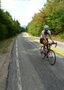 A key to conquering hills is staying focused yet keeping relaxed. (Charlie Willner photo)