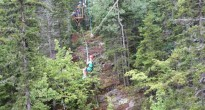 Doris zips through a steep section of the forest. (Photo Jenny Donelan).