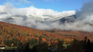 It can be fall in the valleys and winter on the slopes. (Meg Skidmore/Great Glen Trails photo)