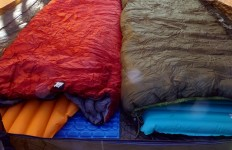 "The lack of hoods bothers some people when it comes to ""flip"" sleeping bags; but, we found that with some careful preparation, these bags can outperform all expectations. (Susan Marean Shedd photo)"