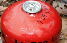 Used, abused, dented, this IsoPRO canister gave up its life in the name of science. (David Shedd photo)
