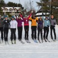 In search of the elusive g-l-i-d-e on Nordic skis with 100 other women at Trapp Family Lodge.