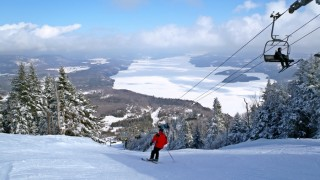 All ski areas have great views, but even by that standard, the view of Lake Memphremagog from the top of Owl's Head is stunning. (David Shedd/EasternSlopes.com)