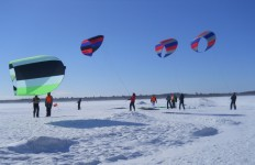 Want a thrill?  Try Paraskiing at Paraski Adventure in Chaudier-Appalaches.  Marti Mayne/EasternSlopes.com photo.