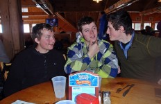 """""""Hmm...free skiing, free beer, free food...guys, can you help me decide if I want to do this???"""" (Susan Marean Shedd/EasternSlopes.com)"""