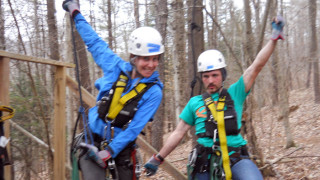 "Guides Meghan and Austin helped add even more ""zip"" to our zipline adventure,"