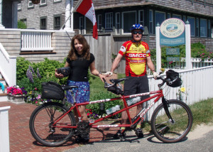 We rode from Vineyard Haven to Isabelle's Beach House in Oak Bluffs, dropped our BOB trailer with out luggage, and then spent the rest of the day riding the bike trails of Martha's Vineyard (Isabelle's Beach House)
