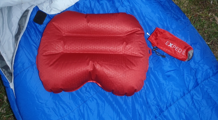 Beautifully contoured, the Exped Air Pillow simply makes every night more comfortable, for virtually no weight. (David Shedd/EasternSlopes.com)