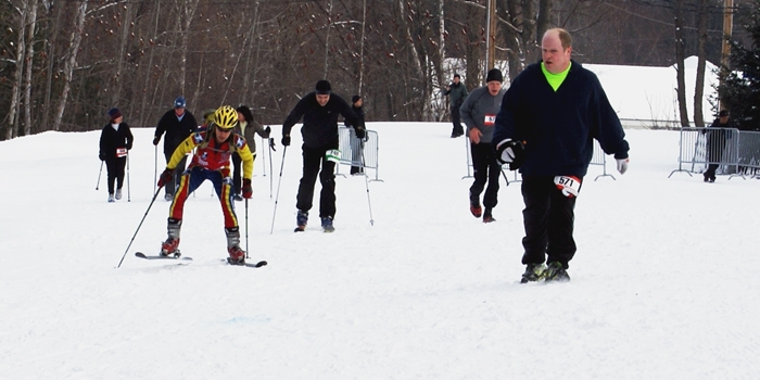 Not steep, but the little uphill to the finish was a tough skate, particularly when I was expecting a competitor to pass me at any moment. (EasternSlopes.com photo)