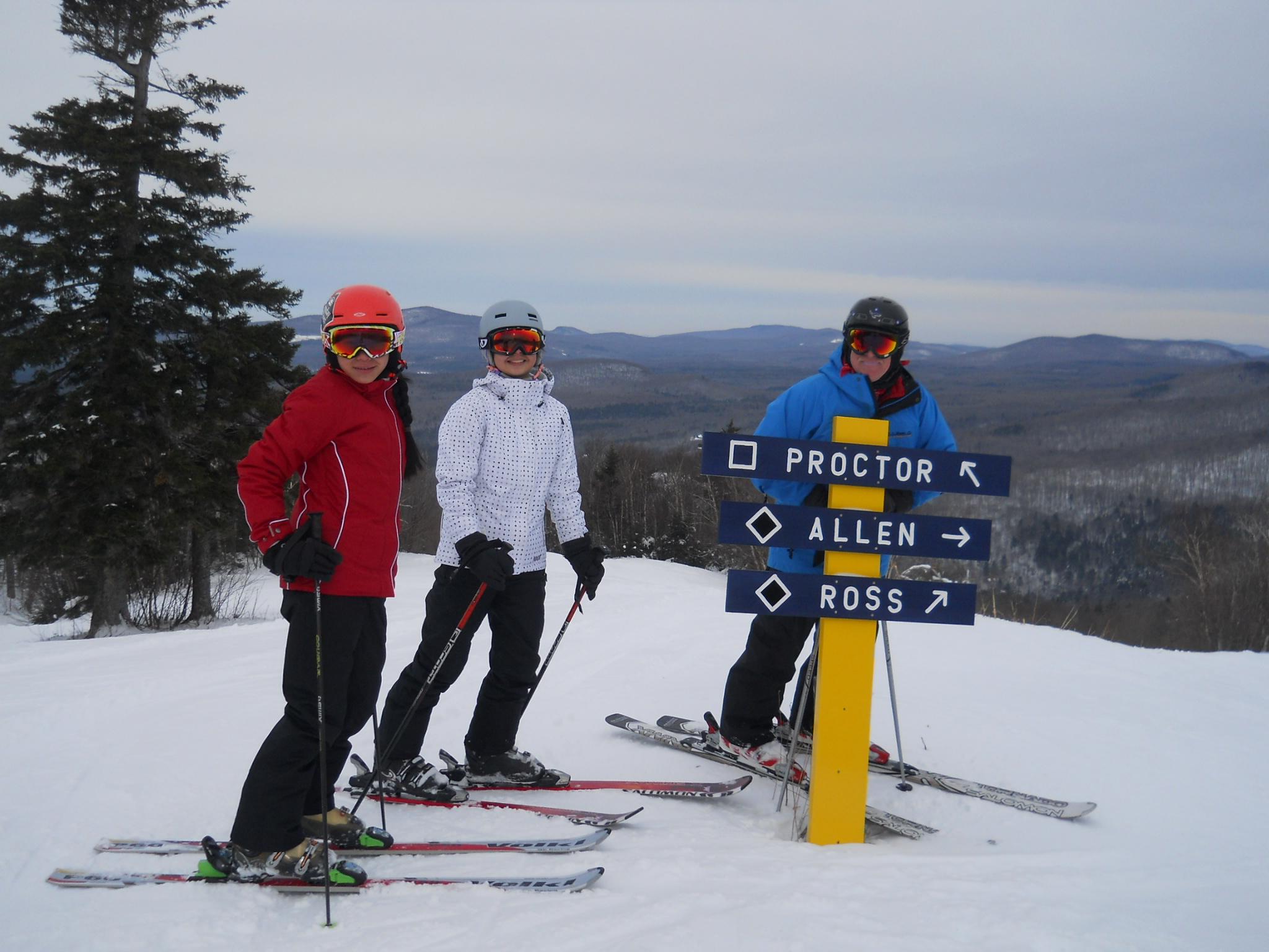 Middlebury Snow Bowl Skiing Family