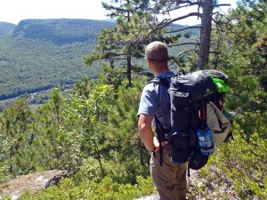 Eagle Creek Go Duffel 60L as serious backpack in the White Mountains