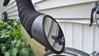 The Italian Road Bike Mirror integrates smoothly onto the end of your handlebars. (EasternSlopes.com photo)