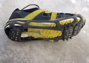 "The Stabilicers Walk also comes in a ""Hike"" version with an added security strap over the instep. Since these perform best on bare ice or hard-packed snow, the lighter Walk version is adequate for most uses. (EasternSlopes.com)"