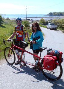 The sun was shining and the morning was cool and comfortable as we prepared to leave Craignair Inn on our big red Co-Motion tandem touring bicycle. (EasternSlopes.com)