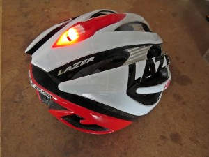 Lazer Helium helmet with LED light