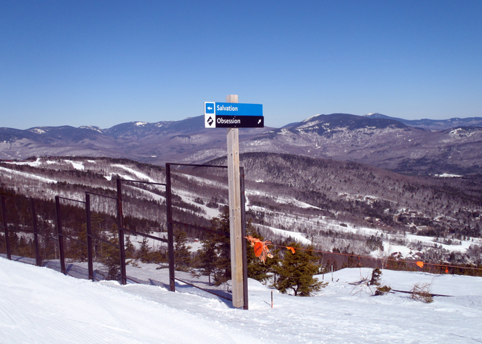 There was A LOT of snow at Sunday River on March 25, 2015. No bare spots anywhere and corn snow just starting to develop on some trails. There's a lot of skiing ahead! (Tim Jones/EasternSlopes.com)